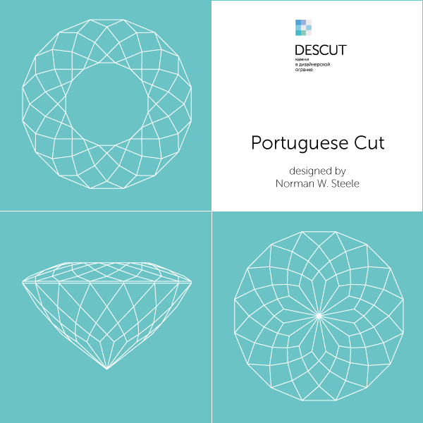 "Схема огранки ""Portuguese Cut"" by  Norman W. Steele (1989)"