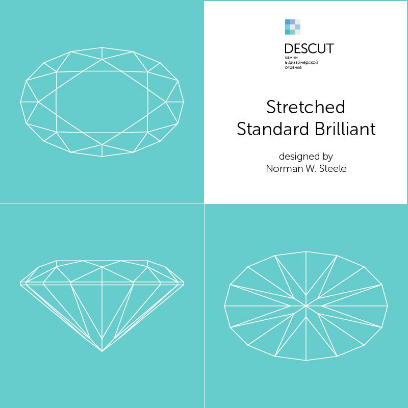 "Схема огранки ""Stretched Standard Brilliant"" by Norman W. Steele (1995)"