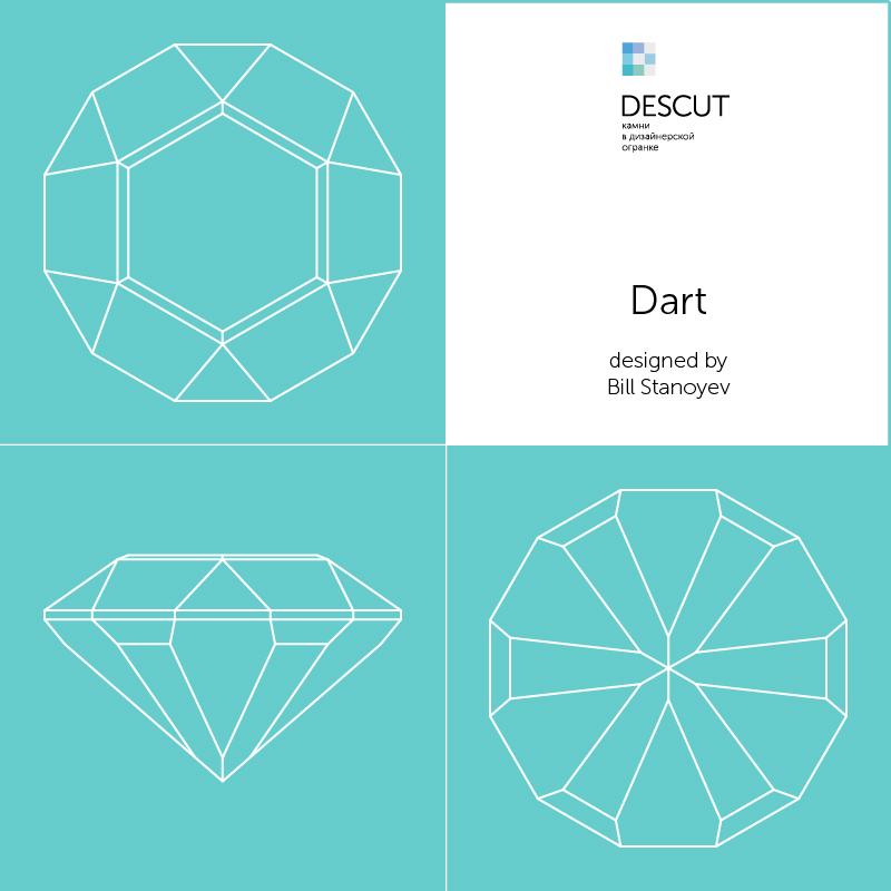 "Схема огранки ""Dart"" by Bill Stanoyev"