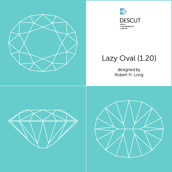 "Схема огранки ""Lazy Oval (1.20)"" by Robert H. Long (1981)"