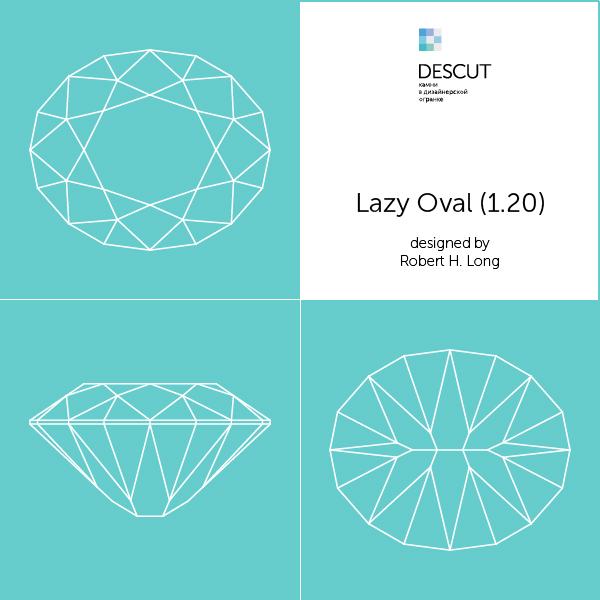 "Схема огранки ""Lazy Oval (1.20)"" by Robert H. Long (1981)"