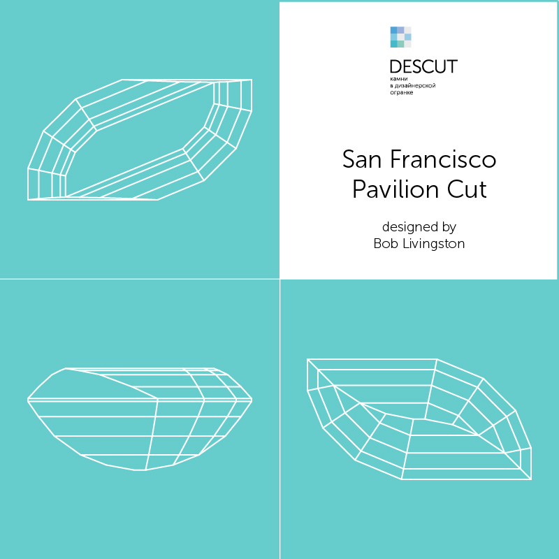 "Схема огранки ""San Francisco Pavilion Cut"" by Bob Livingston"
