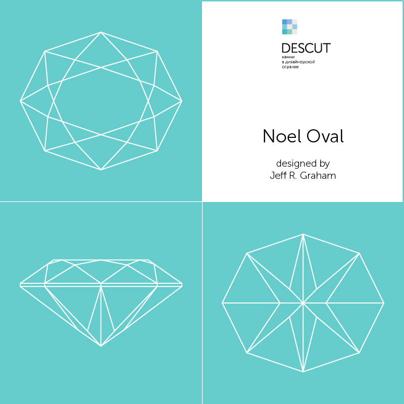 """Схема огранки """"Noel Oval"""" by Jeff R. Graham (2008)"""