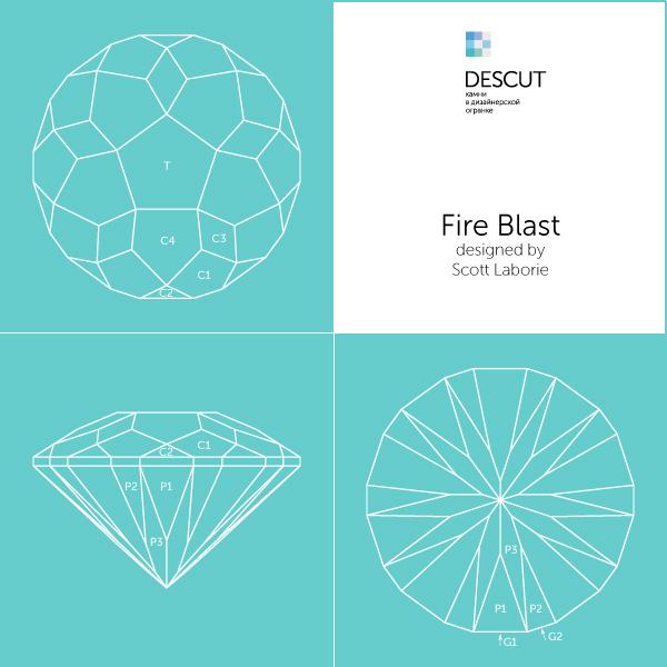 """Схема огранки """"Fire Blast"""" by Scott Laborie (2018)"""
