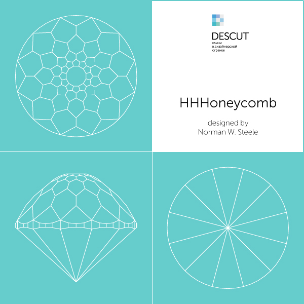 "Facet diagram ""HHHoneycomb"" by Norman W. Steele"
