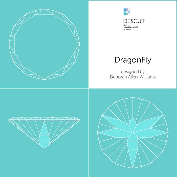 "Схема огранки ""DragonFly"" by Deborah Allen-Williams"